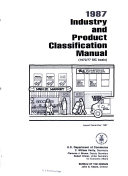 Industry and Product Classification Manual ebook