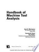 Handbook Of Machine Tool Analysis Book PDF