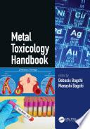 Metal Toxicology Handbook Book