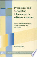 Read Online Procedural and Declarative Information in Software Manuals For Free