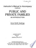 Instructor's Manual to Accompany Cherlin Public and Private Families