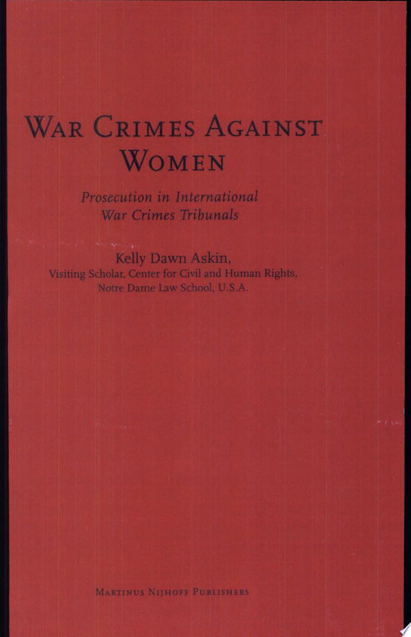 War Crimes Against Women banner backdrop