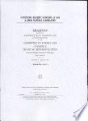 Continuing Security Concerns At Los Alamos National Laboratory Hearings Book PDF