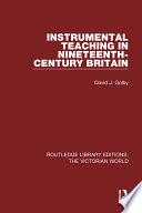 Instrumental Teaching In Nineteenth Century Britain