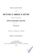 Transactions of the Institution of Engineers in Scotland with which is Incorporated the Scottish Shipbuilders' Association by Institution of Engineers in Scotland PDF