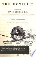 The Homilist Or The Pulpit For The People Conducted By D Thomas Vol 1 50 51 No 3 Ol 63 [Pdf/ePub] eBook