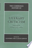 The Cambridge History of Literary Criticism: Volume 4, The Eighteenth Century