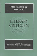 The Cambridge History of Literary Criticism  Volume 4  The Eighteenth Century