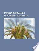 Taylor and Francis Academic Journals