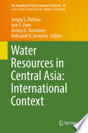 Water Resources in Central Asia  International Context
