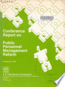 Conference Report On Public Personnel Management Reform