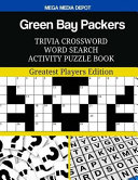 Green Bay Packers Trivia Crossword Word Search Activity Puzzle Book