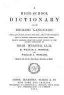 A High school Dictionary of the English Language