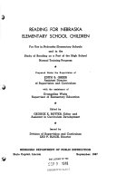 Reading for Nebraska Elementary School Children