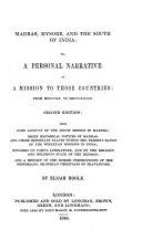 Madras  Mysore  and the South of India  2  Ed