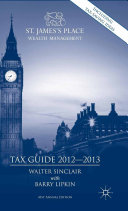 Pdf St. James's Place Tax Guide 2012-2013 Telecharger