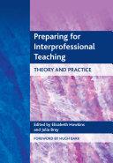 Preparing for Interprofessional Teaching