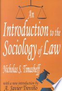 An Introduction to the Sociology of Law Book