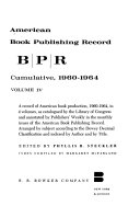 American Book Publishing Record Pdf/ePub eBook