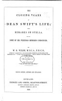 The closing years of Dean Swift's life;: with an appendix, ...