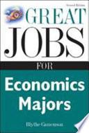 Great Jobs for Economics Majors