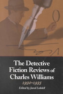 The Detective Fiction Reviews Of Charles Williams 1930 1935
