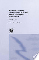 Routledge Philosophy Guidebook To Wittgenstein And The Philosophical Investigations Book PDF