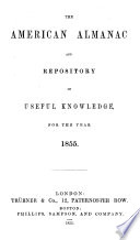 The American Almanac and Repository of Useful Knowledge for the Year    Book PDF
