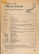 Supplement to the Official Journal of the European Communities ebook