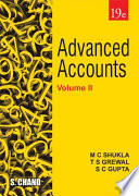 Advanced Accounts Volume–II, 19th Edition