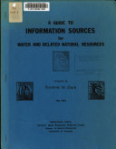 A Guide To Information Sources For Water And Related Natural Resources
