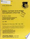 Special Fastener Development for Composite Structure