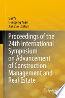 Proceedings of the 24th International Symposium on Advancement of Construction Management and Real Estate
