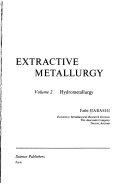 Principles of Extractive Metallurgy  Hydrometallurgy