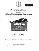 Convention Notes from the 138th AVMA Annual Convention