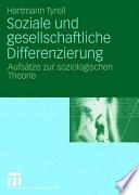 Soziale und gesellschaftliche Differenzierung
