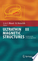 Ultrathin Magnetic Structures III Book