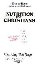 Nutrition for Christians