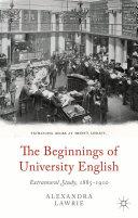 The Beginnings of University English [Pdf/ePub] eBook