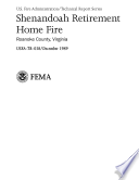 Shenandoah Retirement Home Fire  Roanoke  Virginia