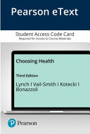 Pearson Etext Choosing Health Access Card Book