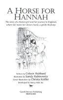 A Horse for Hannah