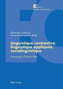 Linguistique contrastive, linguistique appliquée, sociolinguistique