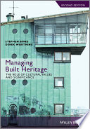 Book Cover: Managing Built Heritage
