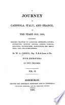 A Journey in Carniola, Italy, and France, in the Years 1817,1818