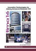 Innovative Technologies for Joining Advanced Materials VIII Pdf/ePub eBook