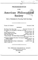 Pdf Proceedings, American Philosophical Society (vol. 112, no. 6, 1968) Telecharger