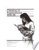 Catalog of Publications of the National Center for Health Statistics