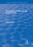 Pdf International Trade and the Environment Telecharger