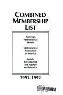 Combined Membership List 1991 92